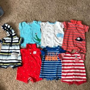 7 baby boy rompers